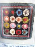 Claire Murray Nantucket Rug Hooking Kit Multi-Colored Circles Vintage New Sealed