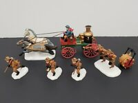 Department 56 Fire Brigade- London- Fire Fighters, Horses, Hose & Wagon
