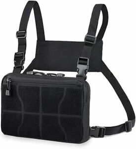 Tactical Molle Vest Pouch Recon Kit Bag EDC Chest Pack Multi-Purpose Daypack
