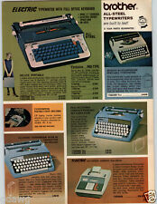 1969 PAPER AD Brother Electric Portable Typewriter Deluxe Smith Corona Galaxie