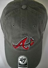 ATLANTA BRAVES UNISEX ADULT ADJUSTABLE LOW-PROFILE HAT CAP WITH A/TOMAHAWK LOGO