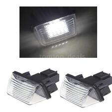 1 Pair LED License Number Plate Light For Citroen SAXO XSARA XSARA Picasso A5T7