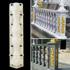 2 Pcs Moulds Balustrades Mold for Concrete Plaster Cement Plastic Casting