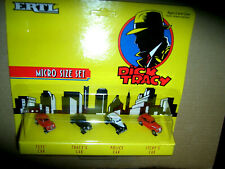 Dick Tracy MOVIE  vintage Micro Size Set Die Cast Cars new mip