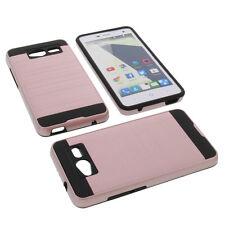 Alu Bumper f. ZTE Blade L3 Smartphone Handytasche Schutzhülle TPU Case Rose Gold