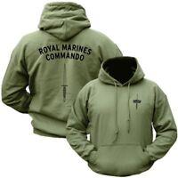 ROYAL MARINES COMMANDO HOODIE MENS S-2XL HOODY US CORP USMC BRITISH NAVY