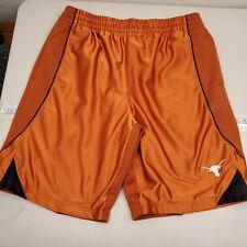 Texas Long Horns Men's Heavy Gym Shorts Size XL with Pockets Orange