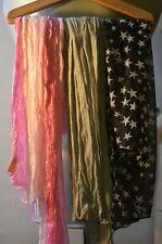 lot revendeur 50 foulards femme écharpes cheveux accessoires