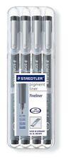 Staedtler Pigmento los trazadores de líneas - 0.1/0.3/0.5/0.7mm - Negro-Cartera de 4 (paquete de 5)