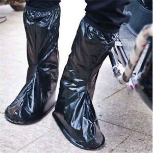 XXL Waterproof Rain Boot Shoe Cover Black Reusable Overshoe Bicycle Bike Cycling