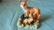 Vintage Lipco fox family figurine nicely detailed