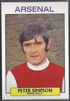 ORANGE BACK 001-085 PETER STOREY 1970-#043- ARSENAL A/&BC-FOOTBALL