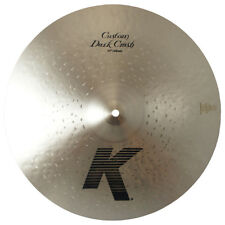 "Zildjian K0953 18"" K Custom Dark Crash Drumset Bronze Cymbal Low Pitch - Used"