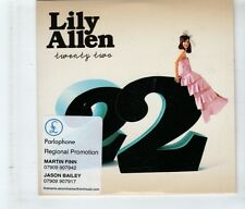 (HK840) Lily Allen, Twenty Two - 2009 DJ CD