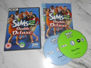 The Sims 2 Double Deluxe Base Game +2 Expansions PC Game Boxed with Manual