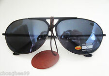 Indian Motorcycle Sunglasses Mens Unisex Black Smoke Lens Aviator Metal Frames