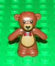 LEGO - Animal, Teddy Bear, Bow Tie, Nose and Mouth Pattern - Dark Brown
