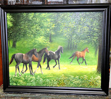 spectacular Vintage Horse  painting well known  Horse Painter artist