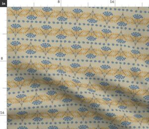 Blue Fruit Plants Nature Stripe Plant Berries Spoonflower Fabric by the Yard