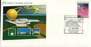 1988 National Tennis Centre Postmark 11-1-88 Melbourne [P88-001]