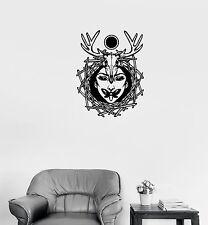 Wall Decal Girl Skull Animal Butterfly Magic Occult Vinyl Sticker (ed610)