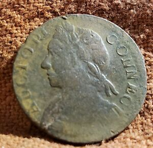 1787 Colonial America Real Nice Connecticut One Cent