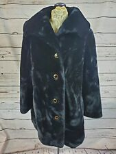 Vintage Borgazia sz 8 Black Faux Fur Coat Women's Career Originals
