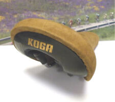 KOGA saddle with brown leather deck ,Honey colour from the 1980's NOS