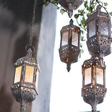 Moroccan Hanging Glass Lantern Tea Light Candle Holders Style Home Décor Wedding