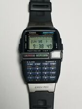 vintage casio dbc-v50 easy rec voice recorder databank telememo lcd watch 1591
