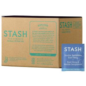 Stash Tea Double Bergamot Earl Grey 100 Count Box of Bags, Full Caffeine