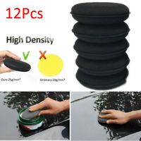12pcs Car Waxing Polish Foam Sponge Auto Wax Cleaning Detailing Applicator Pads