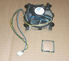 Intel E8400 Core 2 Duo 3.0GHz CPU with heat sink and fan