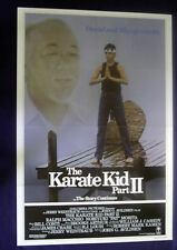 THE KARATE KID PART II ADVANCE ORIGINAL FOLDED MOVIE POSTER 1986 RALPH MACCHIO