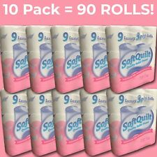 90 Toilet Rolls - 3 PLY Luxury Soft White Bathroom Toilet Paper Bulk Pack