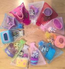 Littlest Pet Shop LPS Lot Dog OR Cat & Accessories Random Bed / Carrier Gift Bag