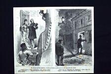 Il ritorno di Rocambole,pubblicato Appendici del Secolo #12 Incisione del 1876