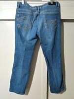 Mens LACOSTE Blue Denim Jeans w/ Alligator stitched pockets Size W32 L27