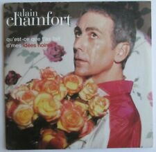 """ALAIN CHAMFORT - CD SINGLE """"QU'EST-CE QUE T'AS FAIT D'MES IDÉES NOIRES ?"""""""