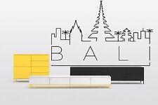 Wall Vinyl Sticker Decal Skyline Horizon Panorama City Bali Indonesia F1812