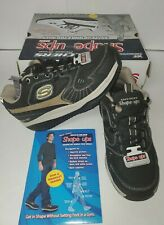 Skechers Shape Ups XT regime Taglia 6.5 Nero/Marrone Scarpe Fitness Tonificanti
