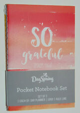 SET 3 Inspirational Mini Journals - Pocket Notebooks, Christian Bible Scripture