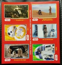 Topps Journey To Star Wars The Force Awakens UK Exclusive Promotional Card Sheet