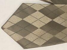 Geoffrey Beene Tie Silk Gold Diamond Geometric Design NEW with tags