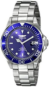 Invicta Men's Pro Diver Automatic 200m Blue Dial Stainless Steel Watch 9094