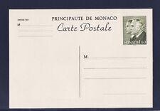Mo/ Monaco  entier carte postale  1f60   vert   neuf
