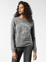 DIESEL Womens Grey F RADI T Crew Neck Sweatshirt Pullover Jumper Top 10 12