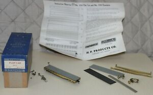 TT Gauge HP Product Flat Car No. 558 in its Original Box with Additional Parts