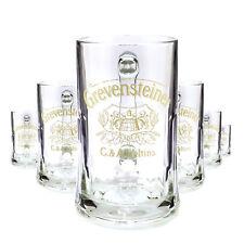 6 x Grevensteiner 0,5l Glas / Gläser, Seidel, Markenglas, Bierglas NEU