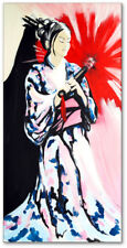 Modern Wandbild Original Handgemalt Frau Geisha Atelier Culari Art Art. Nr. 576